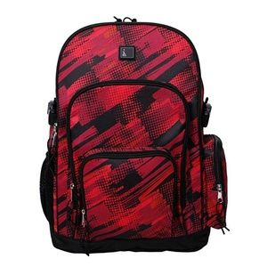 "17.5"" Backpack fits up to 15"" Laptop tablet Red"